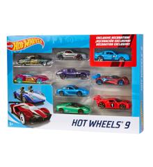 Hot Wheels - 9-Pakke med Basis Biler (X6999)