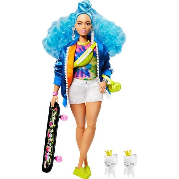 Barbie - Extra Doll - Blue Curly Hair (GRN30)