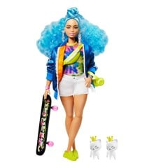 Barbie - Extra Dukke - Blue Curly Hair (GRN30)