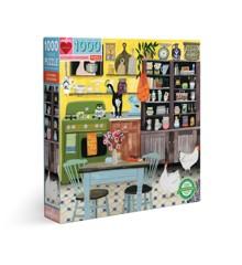 eeBoo - Puzzle - Kitchen Chickens, 1000 pc (EPZTKHC)