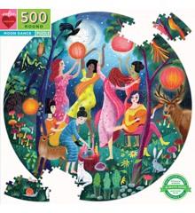 eeBoo - Rundt puslespil 500 brikker - Månedans