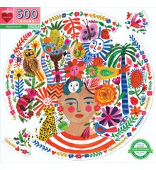 eeBoo - Rundt puslespil 500 brikker - Positivitet