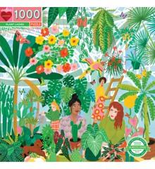eeBoo - Rundt puslespill 1000 stykker - Grønne fingre