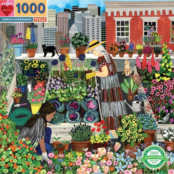eeBoo - Puzzle - Byhage, 1000 stykker