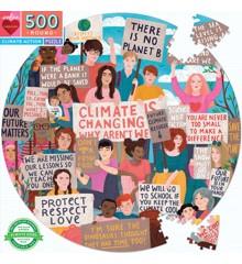 eeBoo - Rundt puslespil 500 brikker - Klima Demonstration