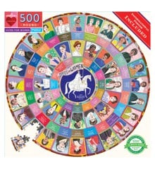 eeBoo - Round Puzzle - Votes for Women, 500 pc (EPZFWOM)