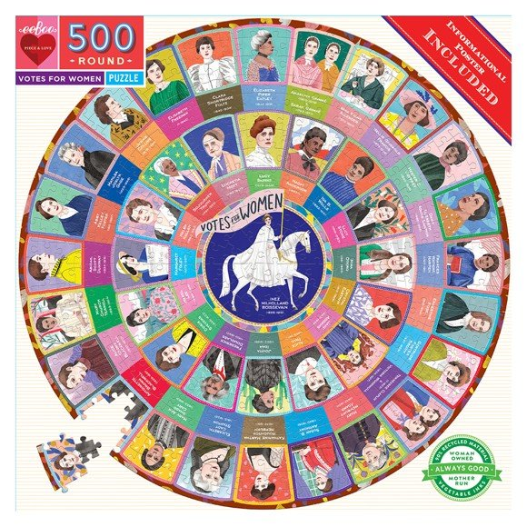 eeBoo - Round Puzzle - Votes for Women, 500 pc (EPZFWOM)