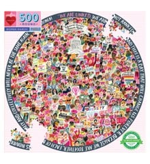 eeBoo - Round Puzzle - Women March, 500 pc (EPZFWM)