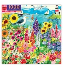 eeBoo - Pussel - Trädgård vid havet, 1000 bitar