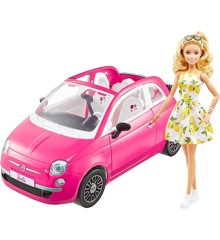 Barbie - Fiat 500 Convertible with Barbie (GXR57)