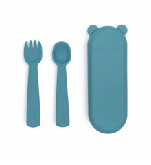 We Might Be Tiny - Feedie Fork & Spoon Set -Blue Disk (28TIFF04)
