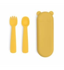 We Might Be Tiny - Feedie Fork & Spoon Set - Yellow (28TIFF01)