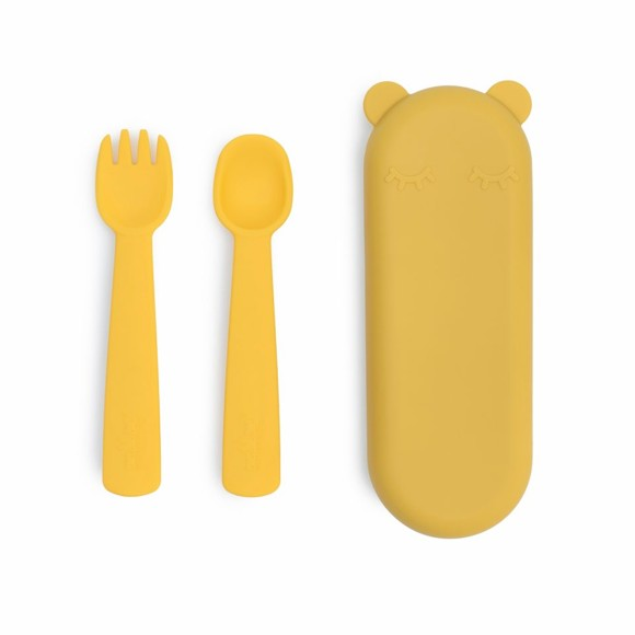 We Might Be Tiny - Feedie Fork & Spoon Set -Yellow (28TIFF01)