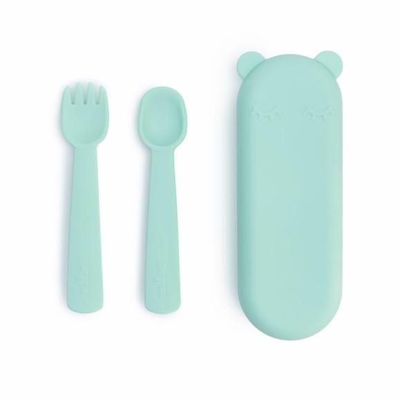 We Might Be Tiny - Feedie Fork & Spoon Set -Mint (28TIFF03)