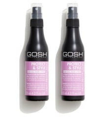 GOSH - 2 x Protect & Style Heat Protection Spray 125 ml