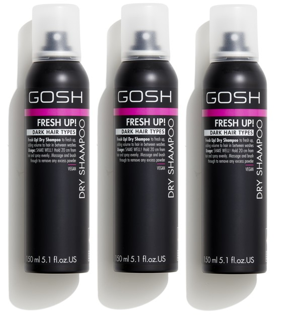GOSH - 3 x Fresh Up Dry Shampoo for Dark hair 150 ml