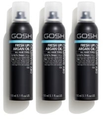 GOSH -3 x Fresh Up Dry Shampoo Clear 150 ml