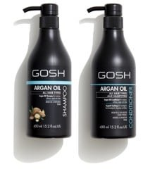 GOSH - Argan Oil Shampoo 450 ml + Argan Oil Conditioner 450 ml