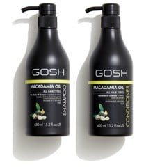 GOSH - Macadamia Oil Shampoo 450 ml + Macadamia Oil Conditioner 450 ml