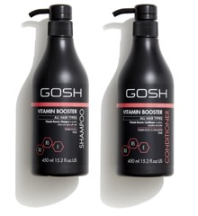 GOSH - Vitamin Booster Shampoo 450 ml + Vitamin Booster Conditioner 450 ml