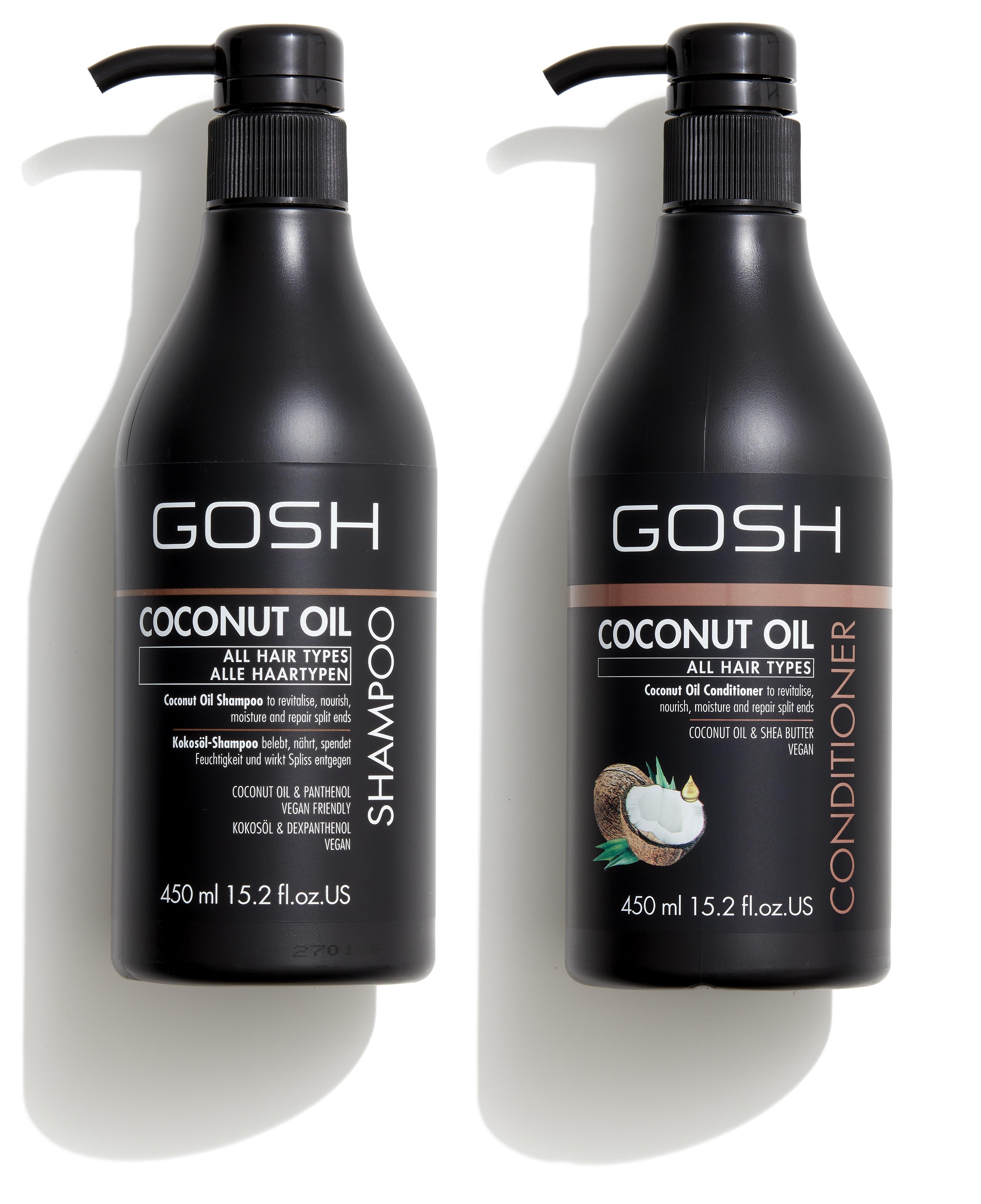 GOSH Coconut Oil Shampoo 450 ml Coconut Oil Conditioner 450 ml