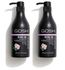 GOSH - 2 x Rose Oil Shampoo 450 ml