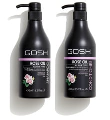 GOSH - Rose Oil Shampoo 450 ml +  Rose Oil Conditioner 450 ml