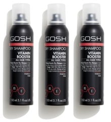 GOSH - 3 x Vitamin Booster Dry Shampoo 150 ml