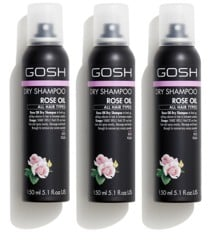 GOSH - 3 x Rose Oil Dry Shampoo 150 ml