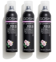 GOSH - 3 x Rose Oil Tørhampoo 150 ml
