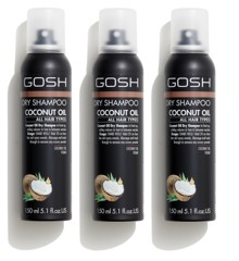 GOSH - 3 x Coconut Oil Dry Shampoo 150 ml