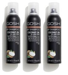 GOSH - 3 x Coconut Oil Dry Shampoo 150 ml