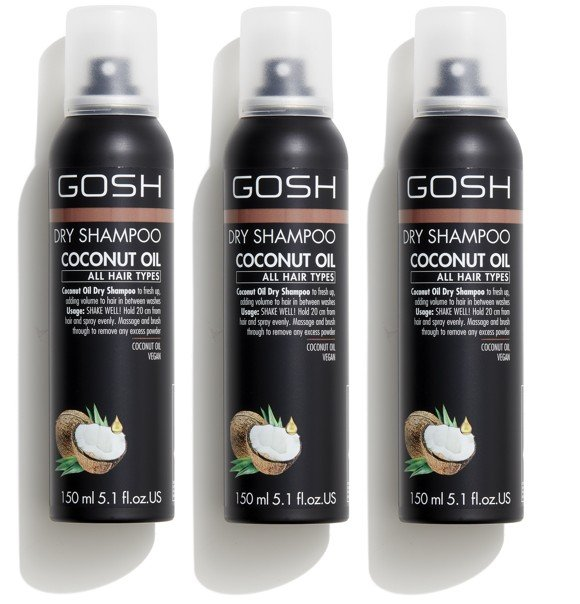GOSH - 3 x Coconut Tørshampoo 150 ml