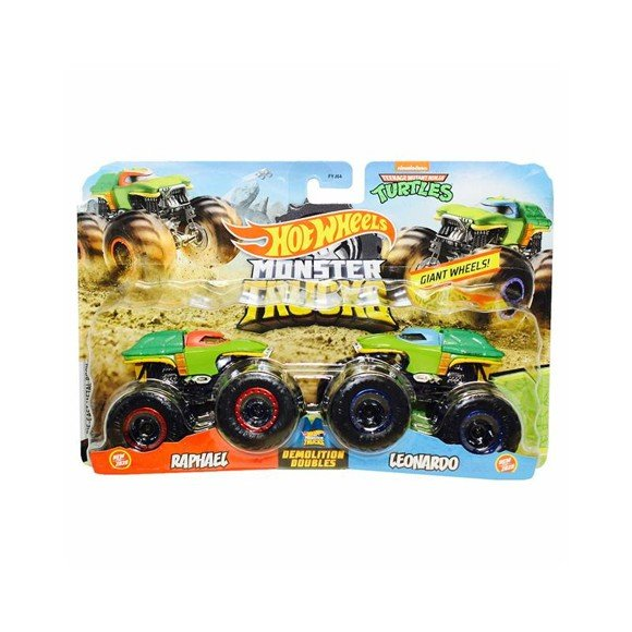 Hot Wheels - Monter Trucks 2 pack - Raphael vs. Leonardo (GJF65)