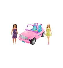 Barbie - Vehicle and 2 Dolls (GVK02)