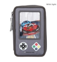 Monster Cars - Trippel Pencil Case w/LED - Gameboy (411075)