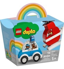 LEGO DUPLO - Brandslukningshelikopter og politibil  (10957)