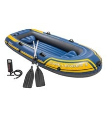 Intex - Challenger - Three Man Inflatable Dinghy with Oars and Pump