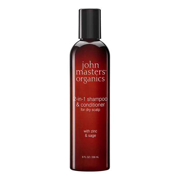 John Masters Organics - 2-in-1 Shampoo & Conditioner for Dry Scalp w. Zinc & Sage 236 ml