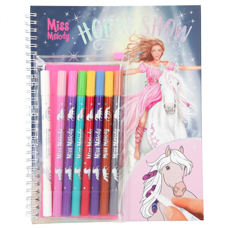 Miss Melody - Horse Show Colouring Book w/Magic Markers (046049)