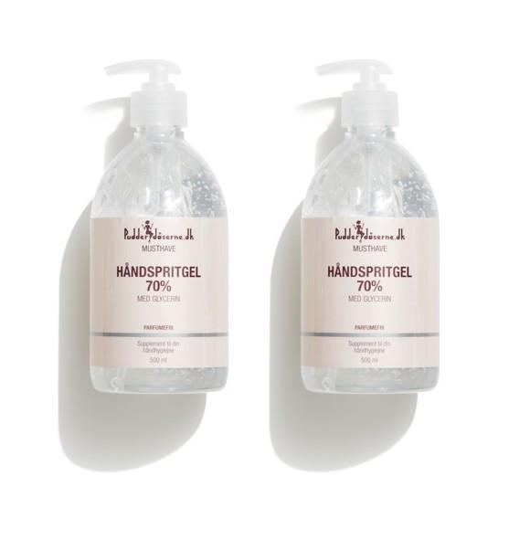 Pudderdåserne - 2 x Hand Sanitizer 70% 500 ml