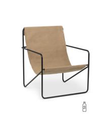 Ferm Living - Desert Lounge Stol - Sort/Solid Cashmere