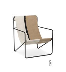Ferm Living - Desert Lounge Stol - Sort/Soil
