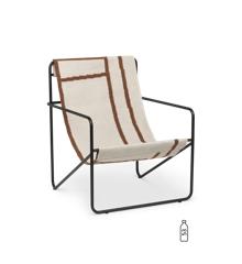 Ferm Living - Desert Lounge Stol - Sort/Shape