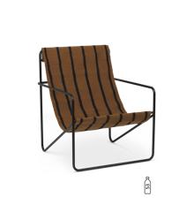 Ferm Living - Desert Lounge Stol - Sort/Stribet