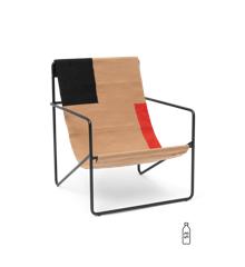 Ferm Living - Desert Lounge Stol - Sort/Block
