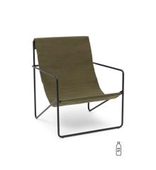 Ferm Living - Desert Lounge Stol - Sort/Olive