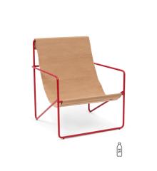 Ferm Living - Desert Lounge Chair - Red/Sand (1104263886)
