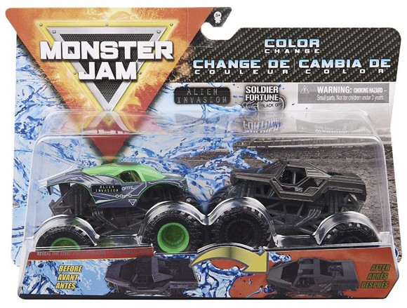 Monster Jam 1:64 2 Pack - Alien Invasion & Soldier Fortune