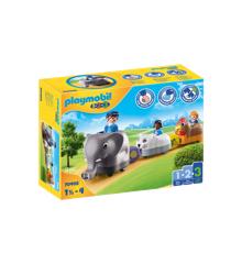 Playmobil - 1.2.3 - Animal train (70405)